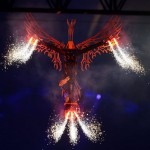London 2012 Olympics Closing ceremony Baby Phoenix