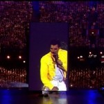 London 2012 Olympics Closing ceremony Tipper Trucks and Freddy Mercury