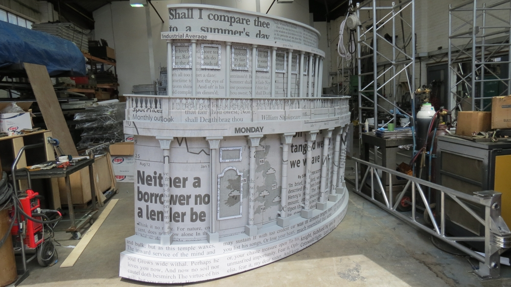 London 2012 Olympics Closing ceremony St Pauls model under construction in our factory