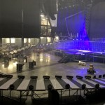 Take That Tour 2015 Trial set up of the walkways during rehearsals