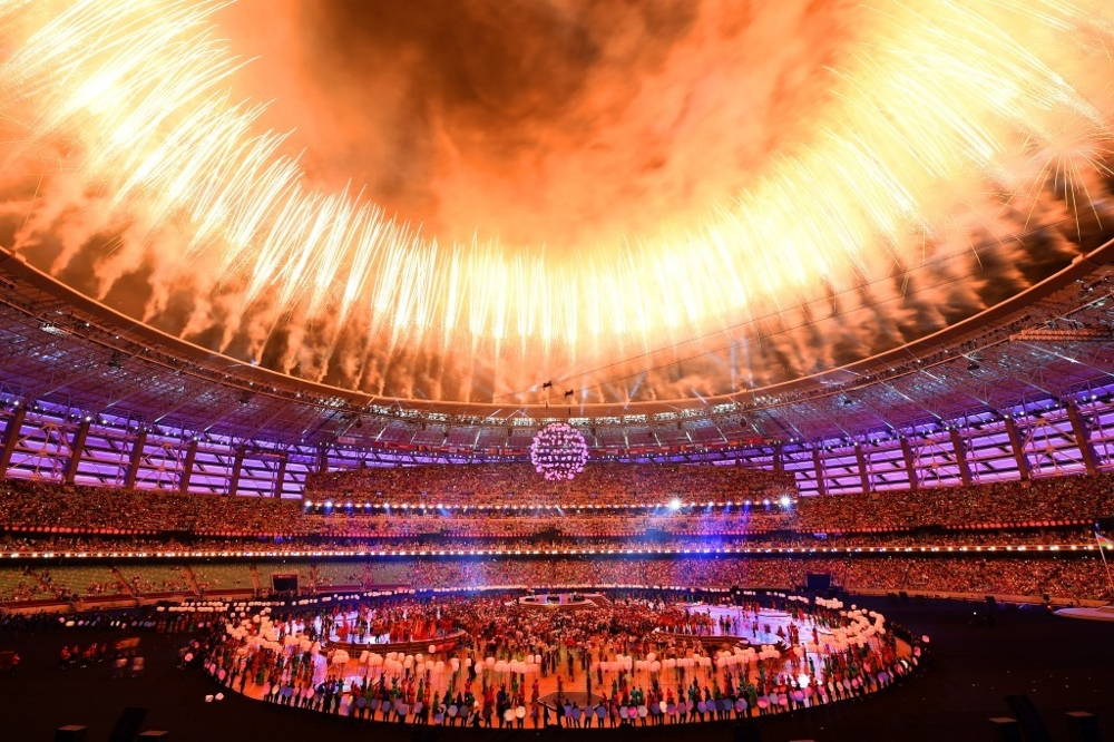 Baku European Games 2015 - The Chandelier as part of the closing ceremony