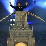 London 2012 Olympics Closing ceremony Big Ben onsite in the stadium
