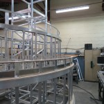 London 2012 Olympics Closing ceremony St Pauls model under construction in our factory - aluminium skeletal structure