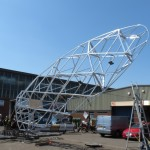 London 2012 Olympics Closing ceremony The Gherkin model being test lifted at our factory