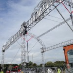 London Design Festival Aluminium Truss Structure test build