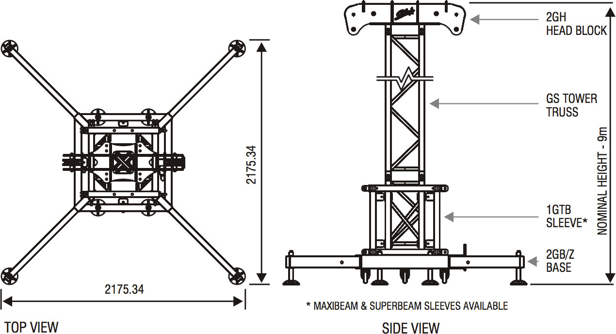 with its ability to pack into an easy and compact unit this is the tower touring with medium to heavy weight truss systems